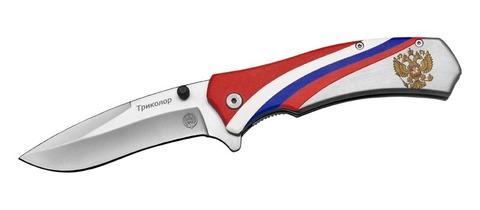 Нож складн. полуавтомат. M9679 Триколор (ВиК) (32646)