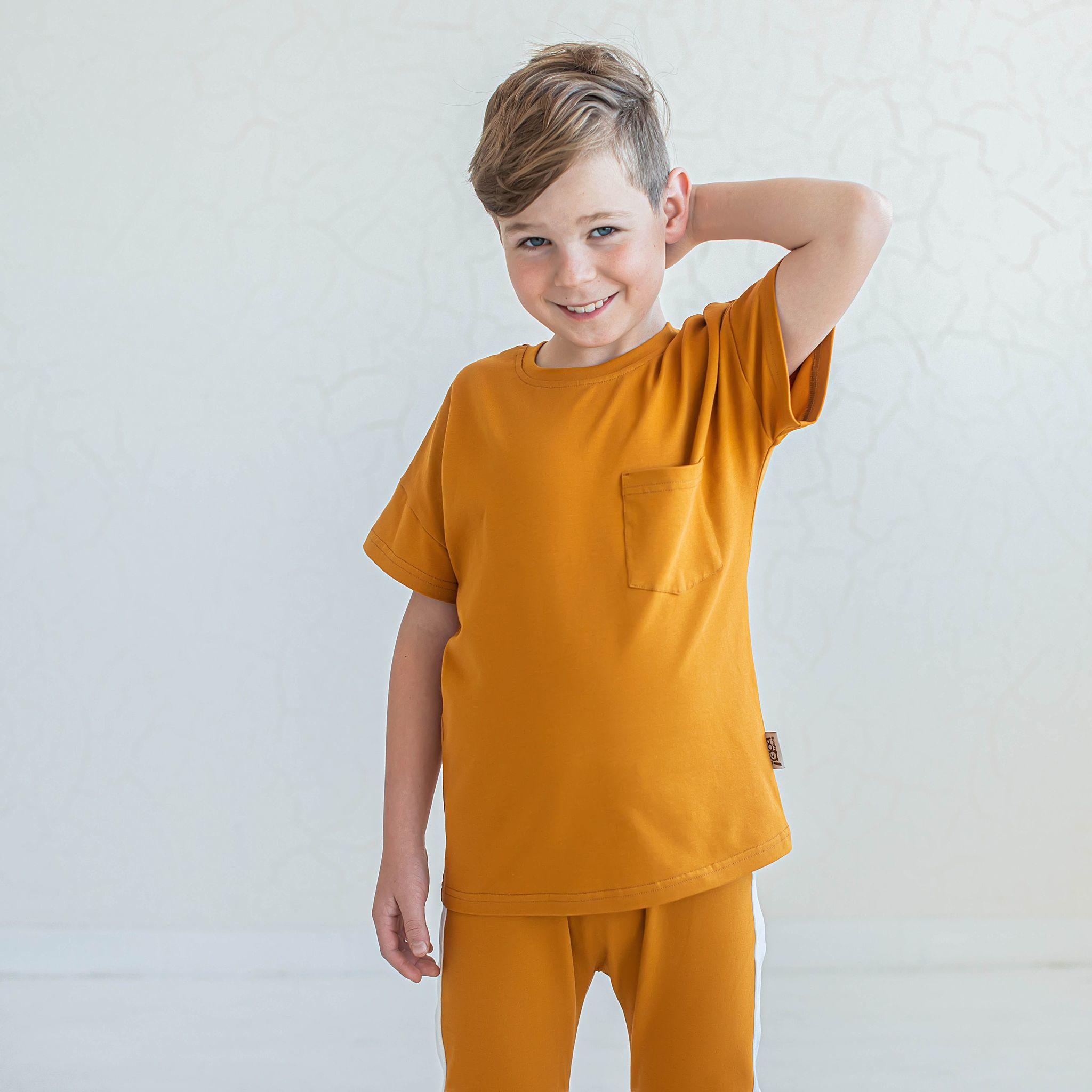Basic T-shirt for teens - Camel