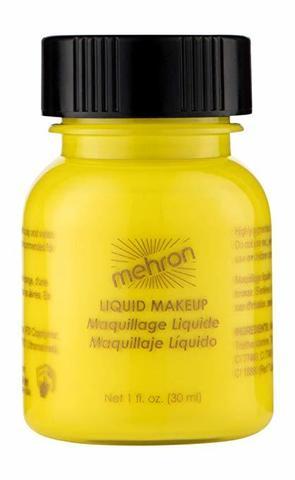 MEHRON Жидкий грим Liquid Makeup, Yellow (Желтый), 30 мл