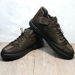 Туфли кроссовки осенние мужские Luciano Bellini 71748 Brown