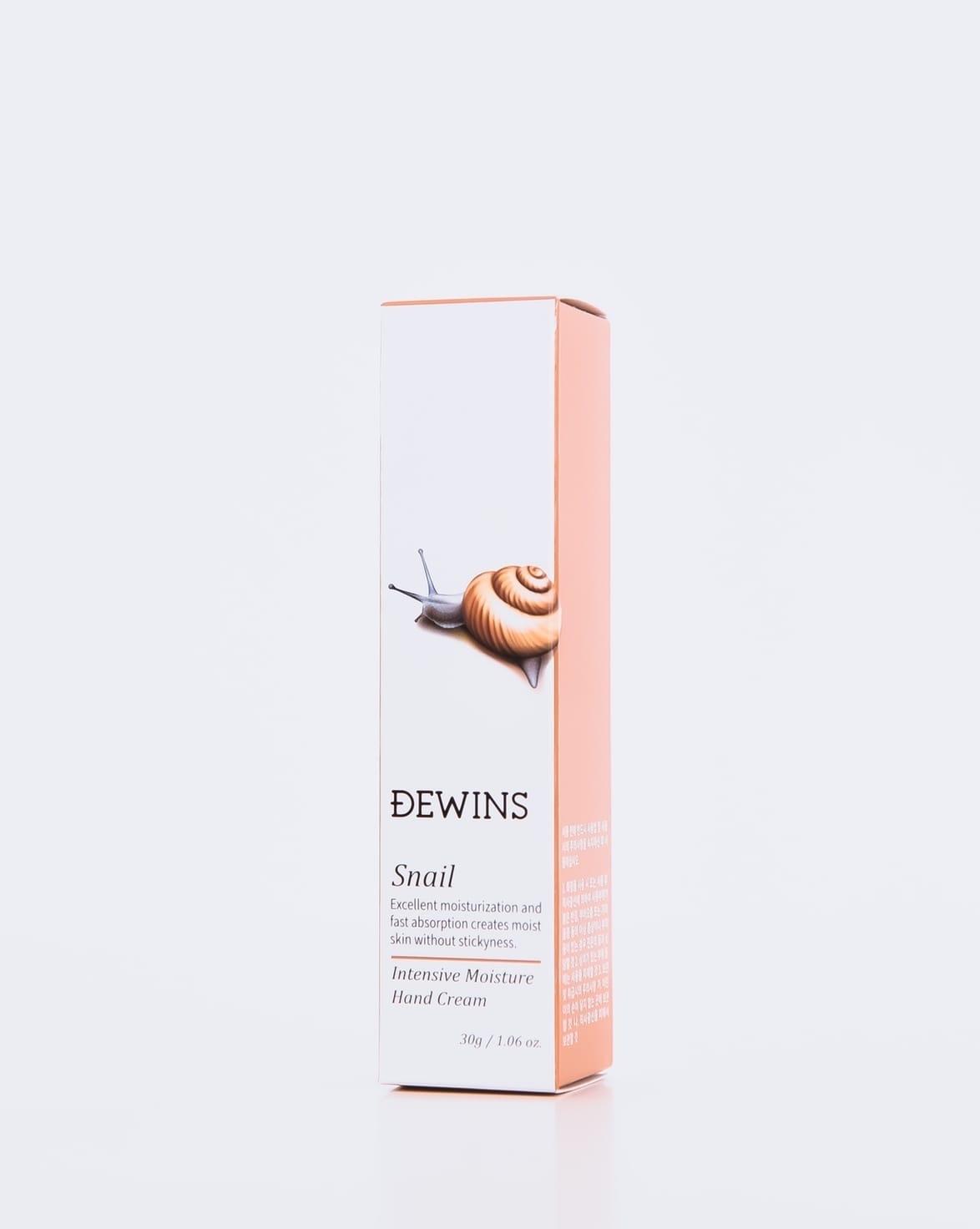 Интенсивно увлажняющий крем для рук с муцином улитки, DEWINS Snail Hand Cream
