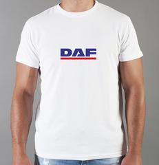 Футболка с принтом ДАФ (DAF) белая 002