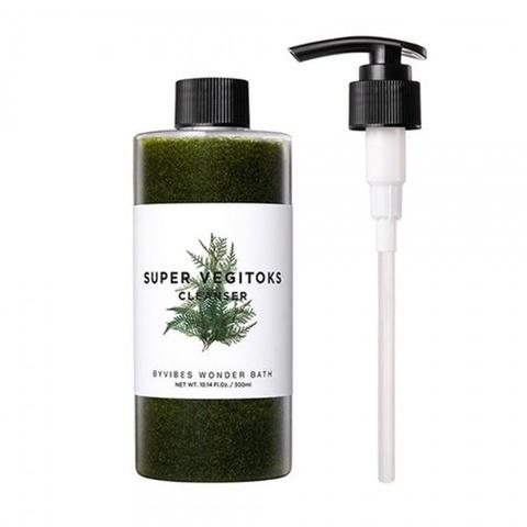 Wonder Bath Детокс-гель для очищения лица со спирулиной Chosungah By vibes Super Vegitoks Cleanser, 300 мл