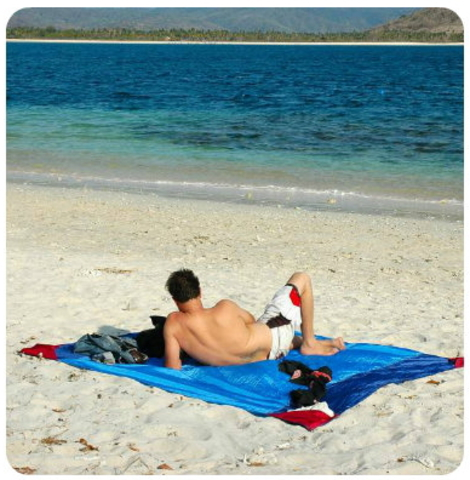 Картинка пляжное покрывало Ticket to the Moon Beach Blanket Turquoise/Royal Blue - 4