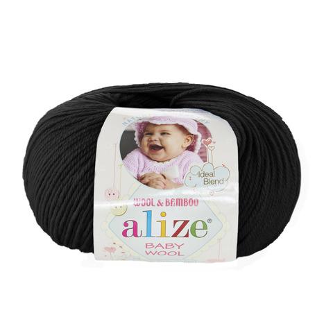 Пряжа Alize Baby Wool черный 60