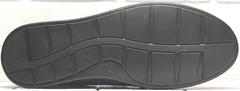 Мужские туфли на плоской подошве стиль casual Luciano Bellini 91268-S-321 Black Blue.