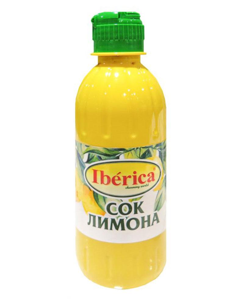 Сок лимона Iberica Прямого Отжима 250 мл.