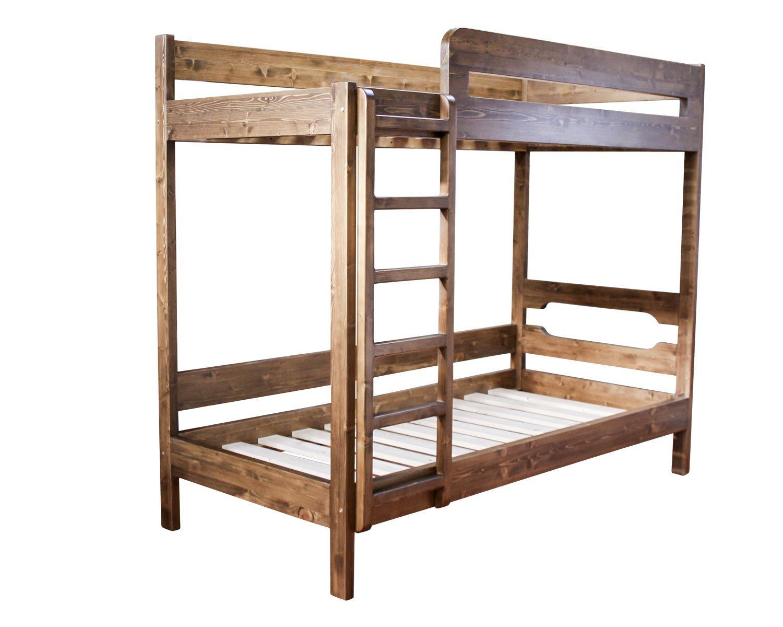 Кровать 2-ярусная из массива сосны