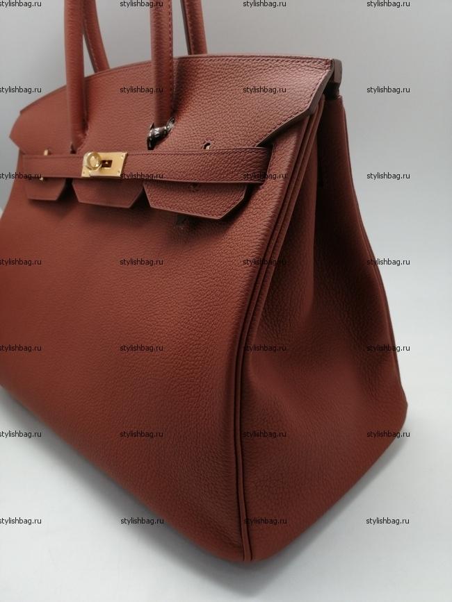 Женская сумка из кожи того Hermes Birkin 35 orange