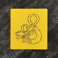8-ка с цветами №3 Тюльпаны