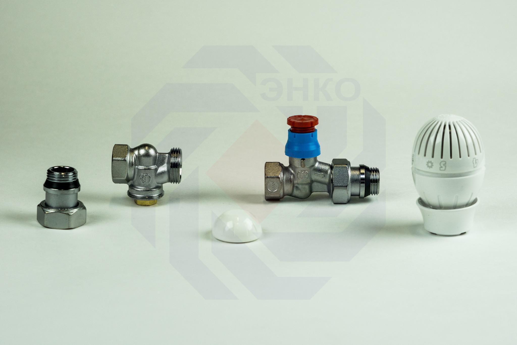 Комплект термостатической регулировки радиаторный GIACOMINI R470F прямой ½