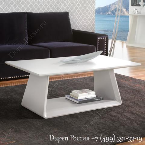 Журнальный стол DUPEN CT-222 Белый матовый