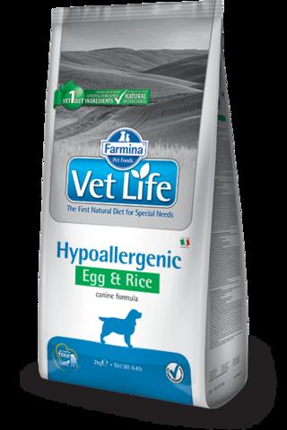 Сухой ветеринарный корм Farmina Vet Life Dog Hypoallergenic Egg&Rice