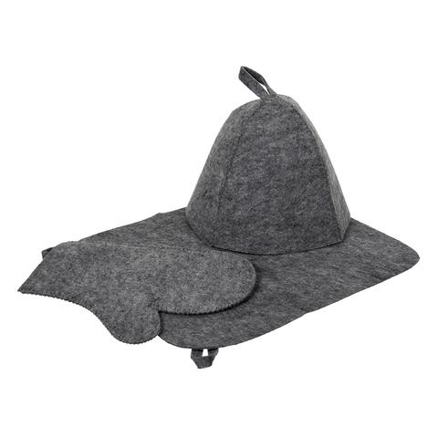 Набор из трех предметов (Шапка, коврик, рукавица)