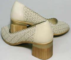Красивые модные туфли женские открытые Sturdy Shoes 87-43 24 Lighte Beige.