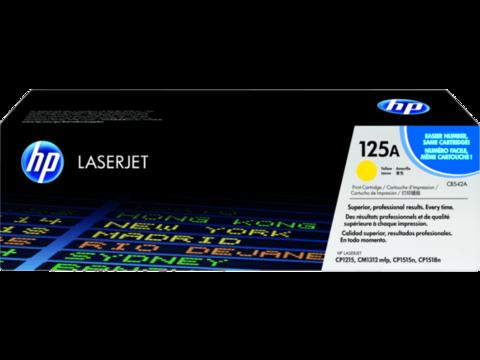 Оригинальный картридж HP CB542A (№125A), жёлтый