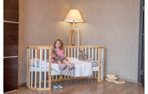 Кроватка детская Polini kids Simple 910, белый