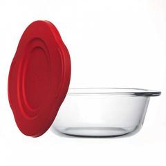 Кастрюля круглая с пластиковой крышкой 1,45 литра Borcam 59123 жаропрочная стеклянная кастрюля 18,7х21,8 см коробка