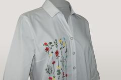 Блузка Kzara 2880 рубашка вышивка к/р