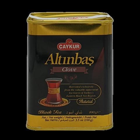 Турецкий чёрный чай с гвоздикой Altinbas CAYKUR, 100 гр