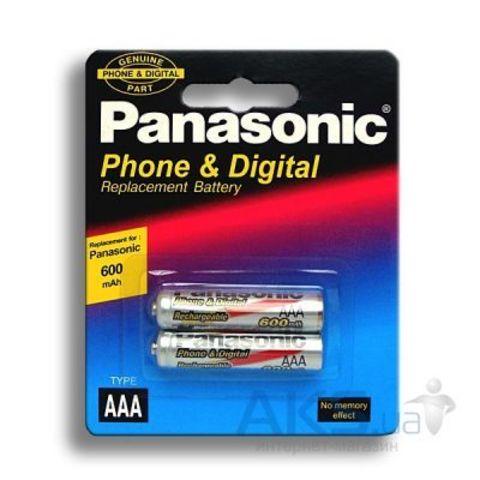 Аккумуляторы Panasonic Ni-MH R03 600mAh /2bl