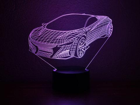 3D лампа Спорткар