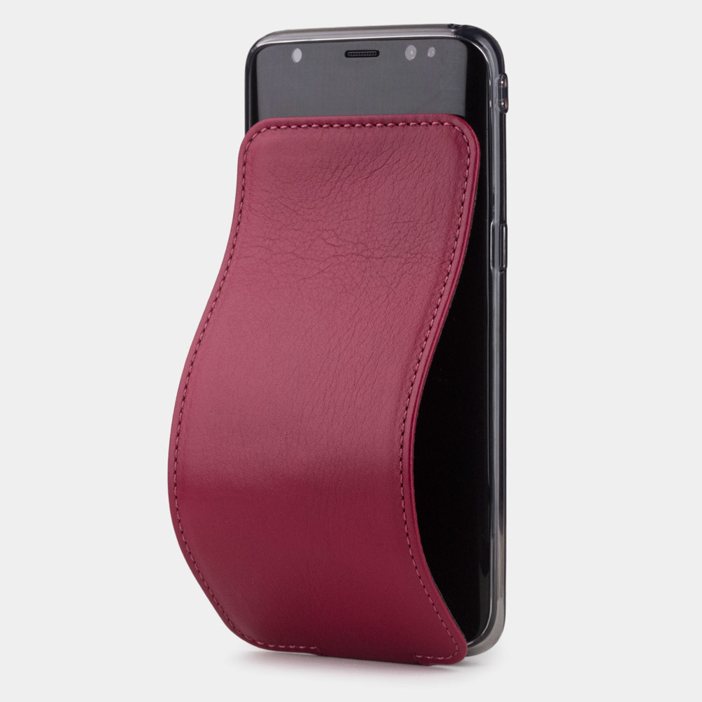Чехол для Samsung Galaxy S8 из натуральной кожи теленка, цвета малины