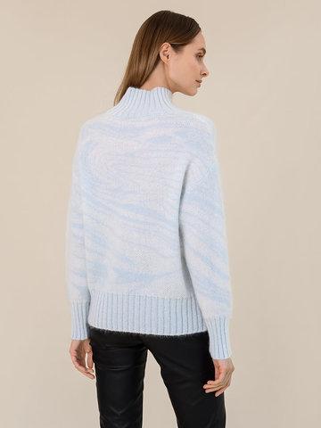 Женский свитер молочного цвета из мохера - фото 4