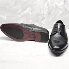 Классические туфли мужские кожаные черные Ikoc 2249-1 Black Leather.