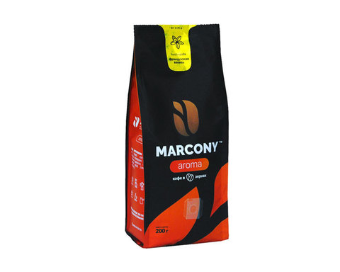 купить Кофе в зернах Marcony Aroma Французская ваниль, 200 г