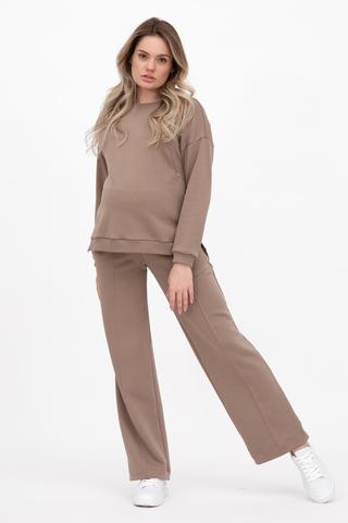 Спортивный костюм для беременных и кормящих 12407 коричневый
