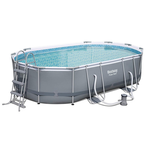 Каркасный бассейн Bestway 56448 Power Steel (488х305х107 см) с картриджным фильтром, лестницей и защитным тентом / 18488