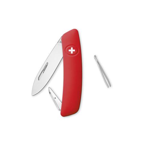 Швейцарский нож SWIZA D00 Standard, 95 мм, 5 функций, красный