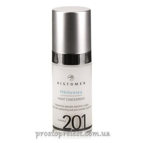 Histomer Formula 201 Whitening Night Concentrate - Сироватка нічна для вирівнювання тону шкіри