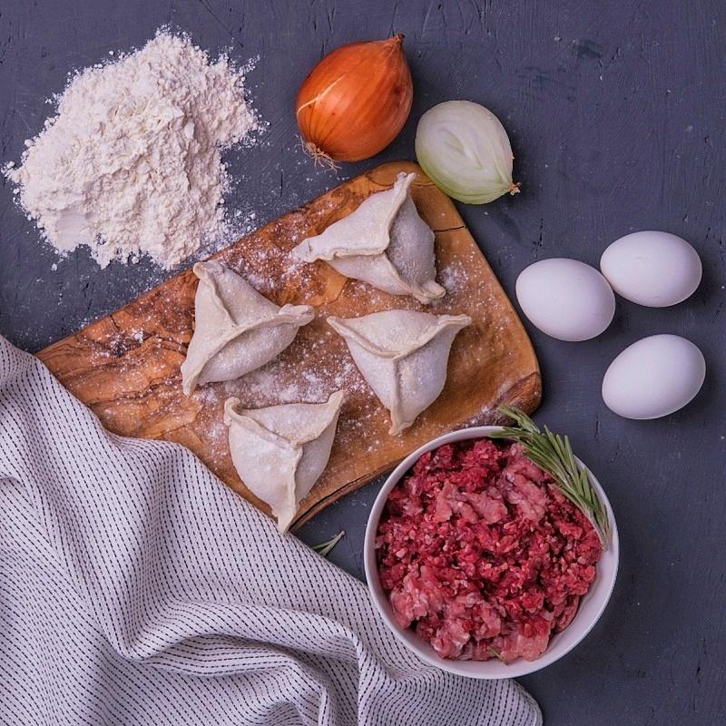 Фотография Манты с бараниной и говядиной / 500 г купить в магазине Афлора