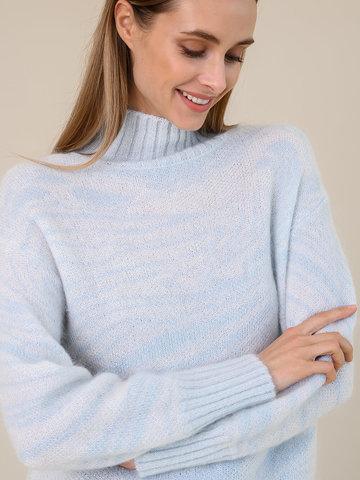 Женский свитер молочного цвета из мохера - фото 3