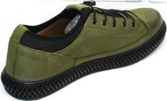Спортивные кожаные туфли кроссовки для прогулок Luciano Bellini C2801 Nb Khaki.