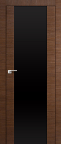 Дверь №8Х триплекс черный (малага черри кроскут, остекленная экошпон), фабрика Profil Doors
