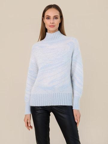 Женский свитер молочного цвета из мохера - фото 2