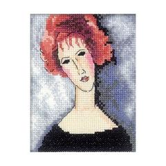 Набор для вышивания Девушка с рыжими волосами