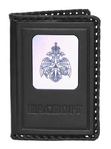 Обложка на паспорт | Герб МЧС | Чёрный