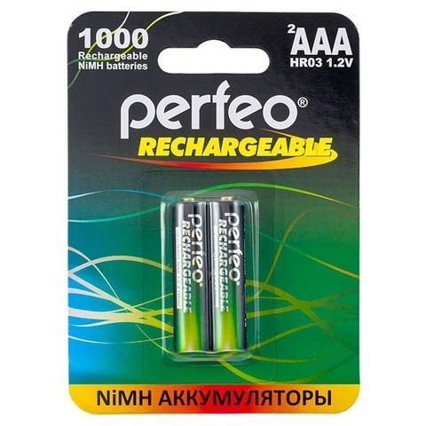 Аккумуляторы Perfeo R03, AAA 1000mAh Ni-MH 2шт. блистер