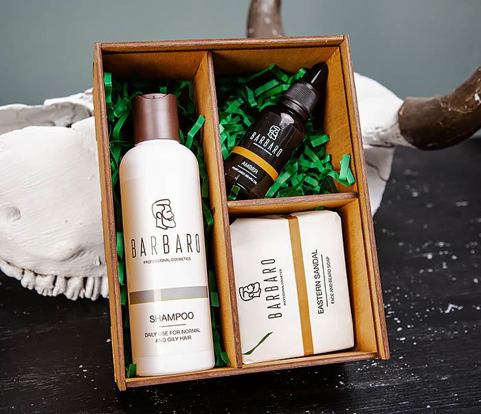 Подарочный набор косметических средств для бородача от «Barbaro»