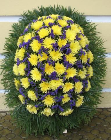 Венок из живых цветов заказной ВЖ-16