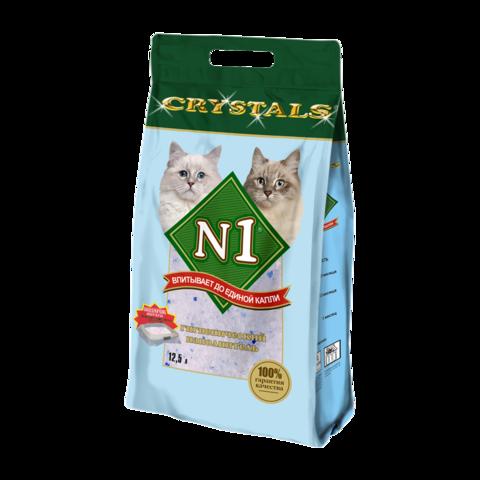 №1 Crystals Наполнитель для туалета кошек силикагелевый