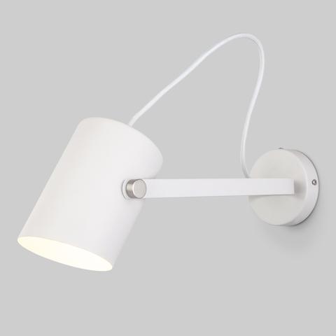 Настенный светильник с поворотным плафоном 20092/1 белый/сатин никель