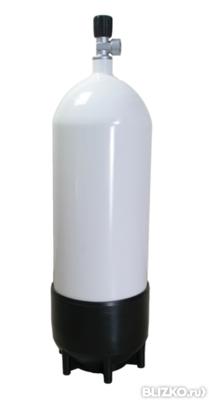 Баллон стальной Eurocylinder Systems 15 л, диам. 204 мм, без вентиля