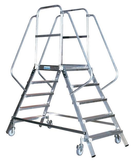 Односторонняя передвижная лестница с платформой STABILO
