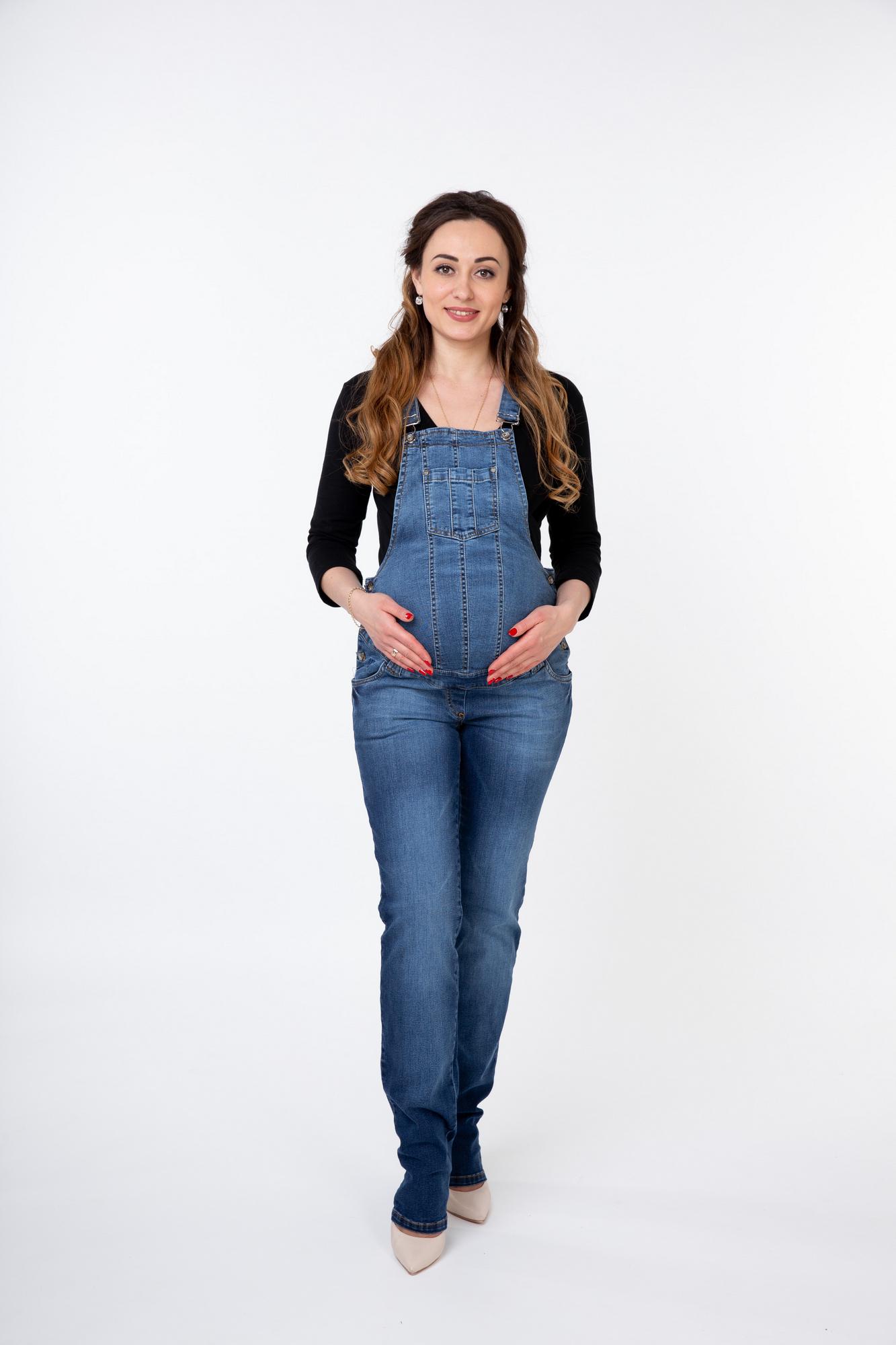 Комбинезон для беременных 08074 синий