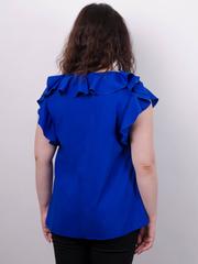 Руна. Ніжна блуза великого розміру. Електрик.